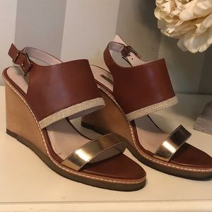 Louise et Cie wood wedge sandals